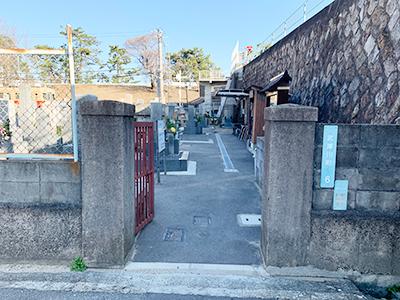 西宮市の小松西墓地の写真